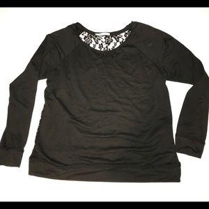 Lightweight Maurices sheer lace sweatshirt